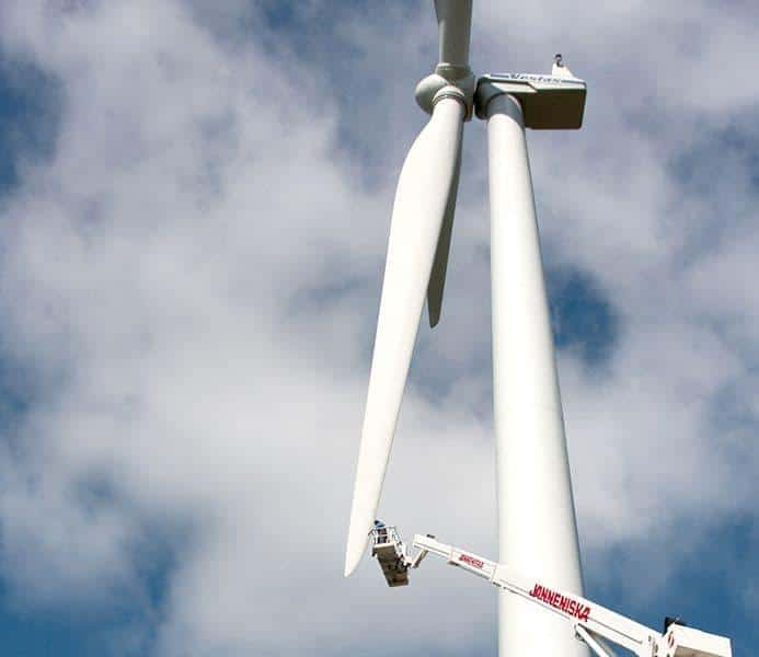wind turbine side