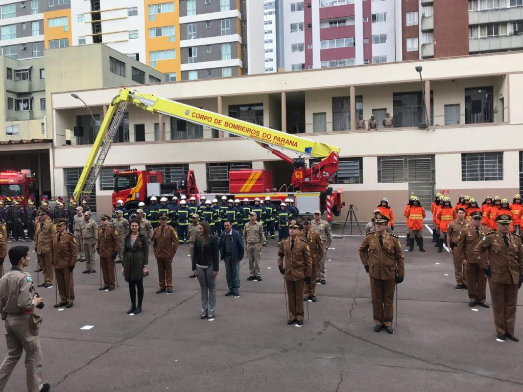 National Firefighter Day in Curitiba, Brazil