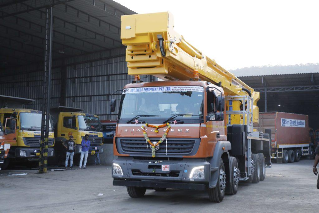 Bronto S70XDT aerial work platform on Bharat Benz