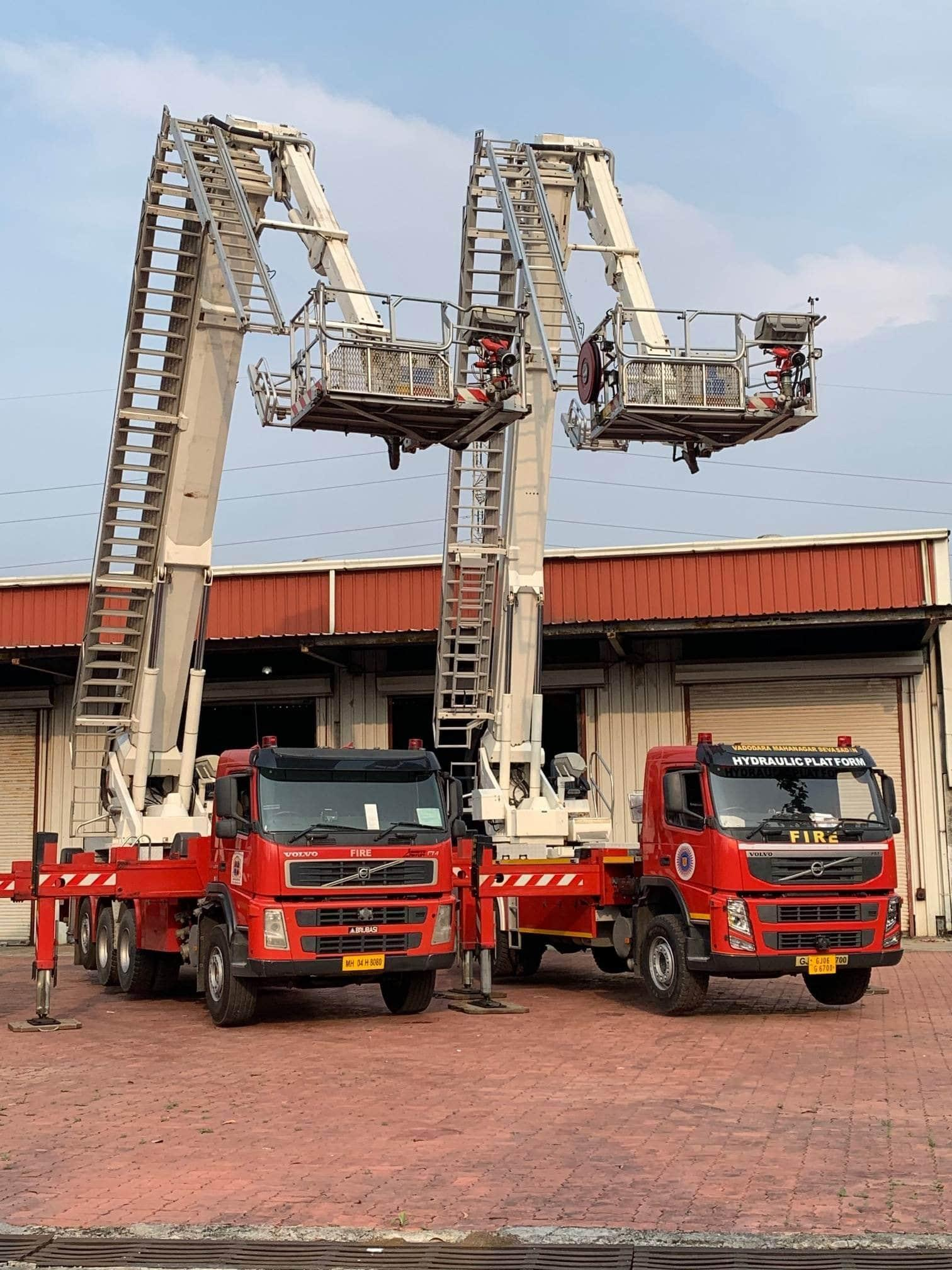 Bronto aerial ladder platforms in maintenance in India