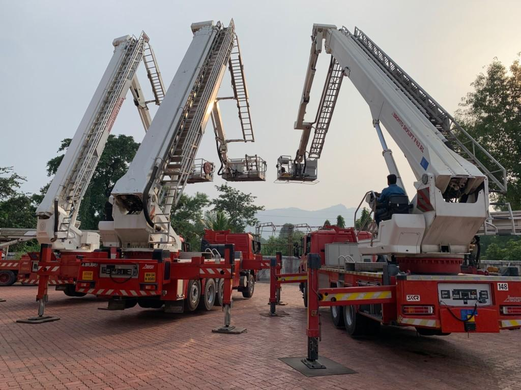 Bronto aerial ladder platforms at annual maintenance in India
