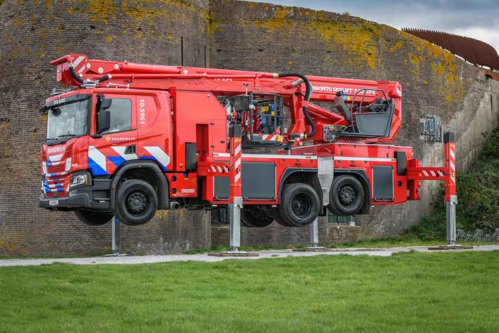 Bronto Skylift F32RPX aerial platform for Texel fire brigade