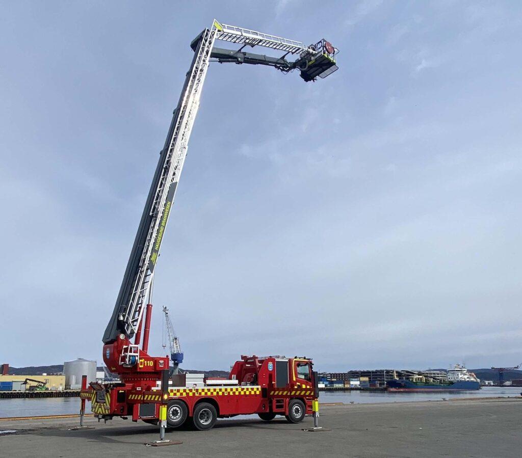 Haugesund Fire Brigade takes delivery of 44metre aerial platform